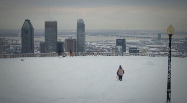 用滑雪板來紀錄一場降雪