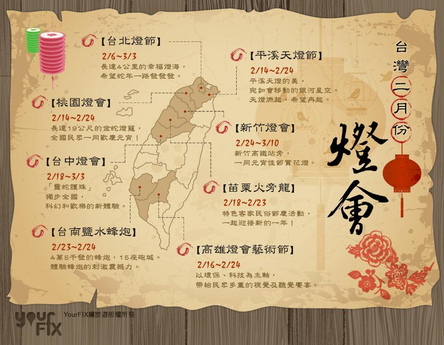 台灣二月份可以去哪玩?我來告訴你!