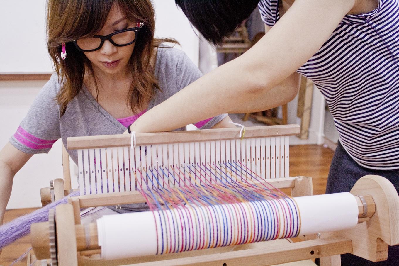 手織課程讓我一日變織女