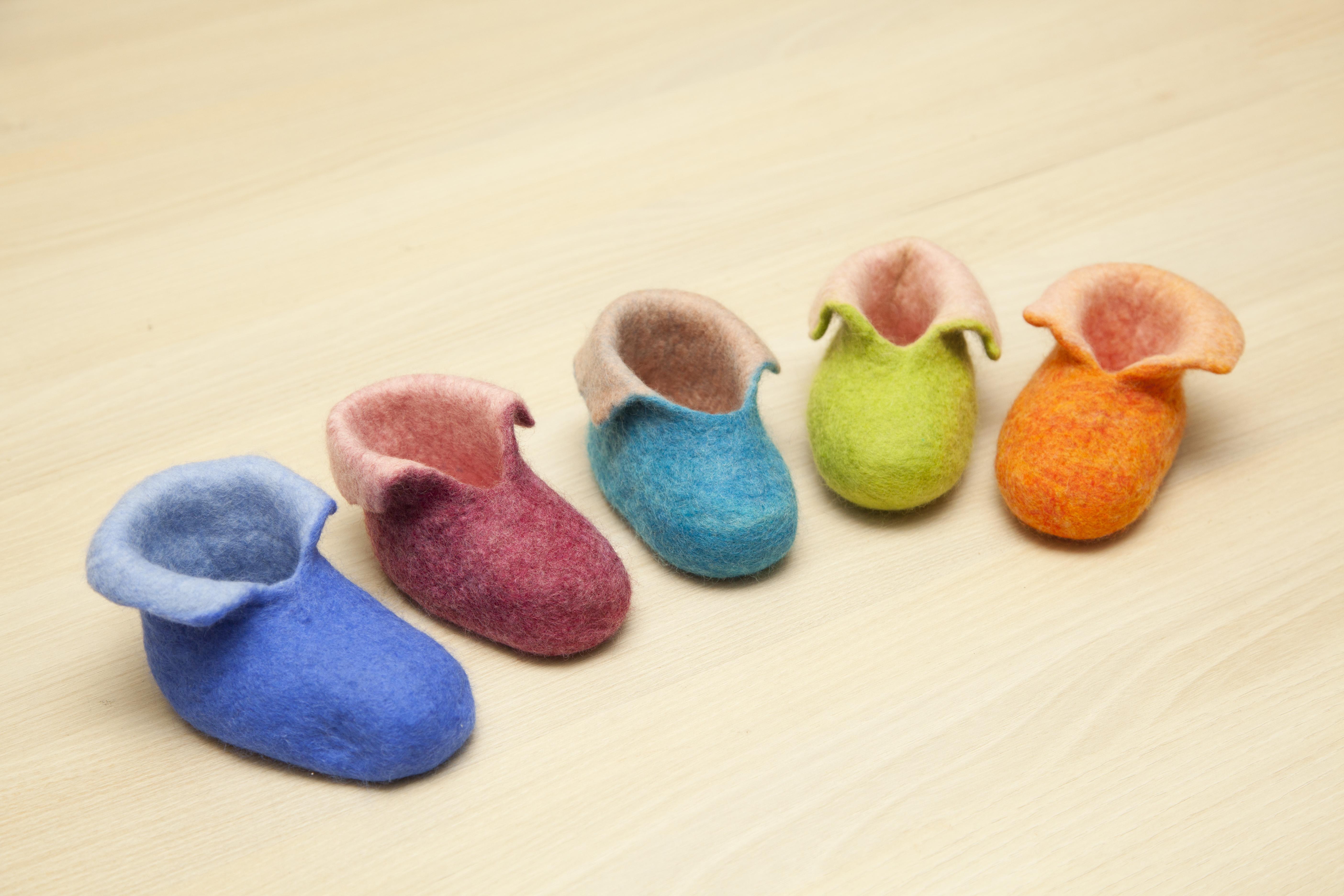 幅新手織羊毛氈童鞋DIY