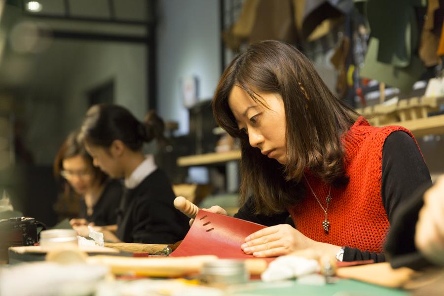 【台北皮革手作課程|Hsu & Daughter】親手打造自己專屬的手工皮件包包