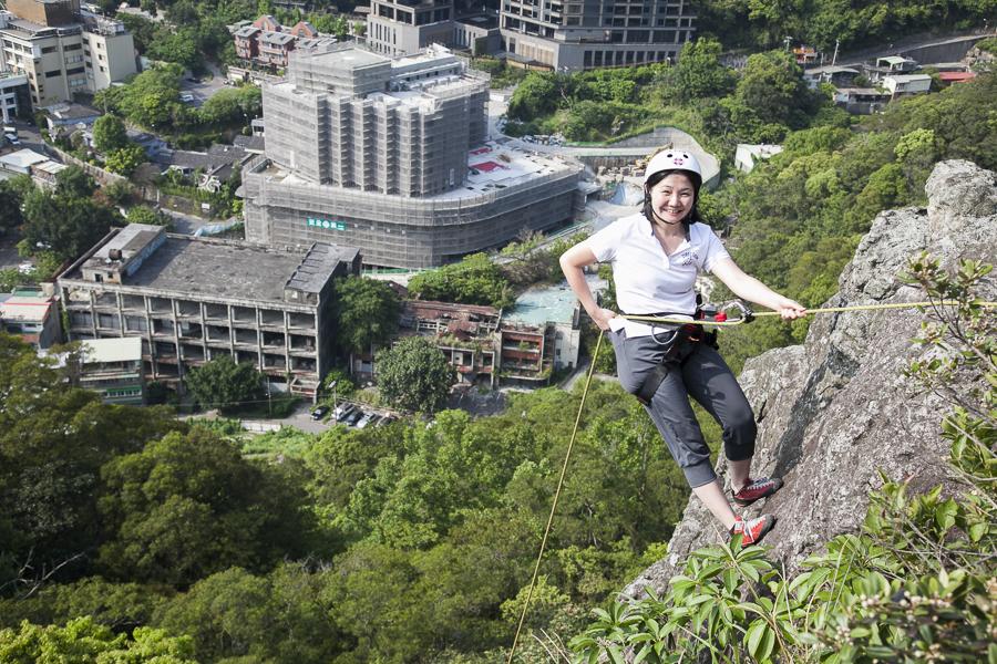 《Niceday北投熱海攀岩體驗》初學者也可享受攀天然岩場的樂趣