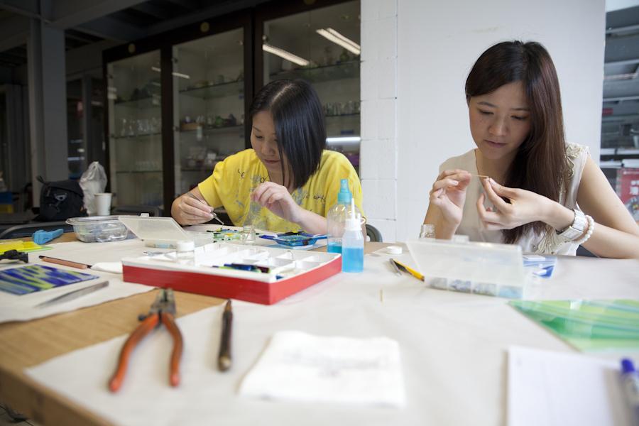 《手作琉璃體驗》沒想到可以在琉園創作玻璃作品❤感覺自己變身為藝術家了呢!