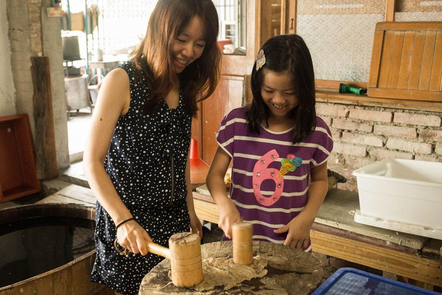 南投埔里 紙匠工房 自己用紙漿造紙 DIY有溫度的手工書
