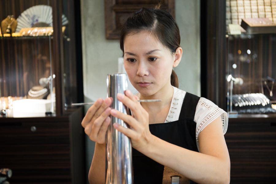 【銀戀|台南手作銀飾】打造專屬銀飾,超喜歡的多角菱格手環自己做