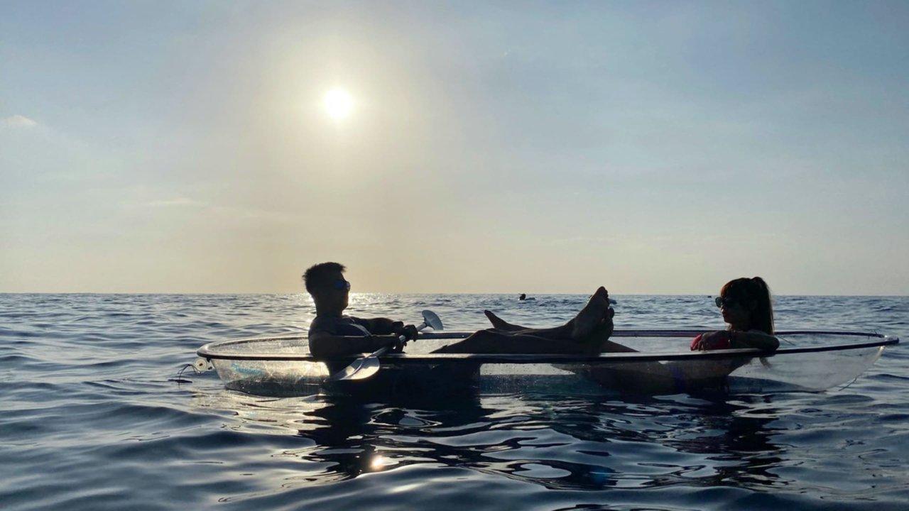 屏東小琉球透明獨木舟