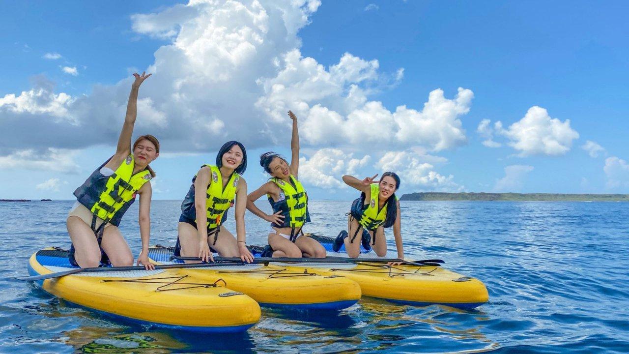 澎湖 SUP 立槳+浮潛帶你探索青灣之美