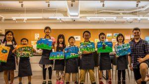 Art Garden 庫比畫室   魔法調色盤   兒童全美語藝術養成班