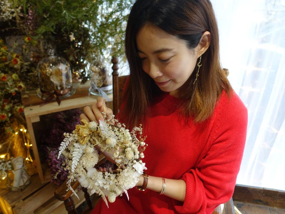 【手作】松果手感 pomme de pin 超療癒的夢幻一日花藝課