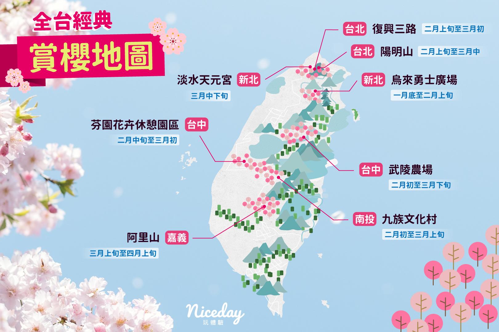 【賞櫻景點推薦🌸】台灣的櫻花也超美!今年就在國內賞櫻吧!