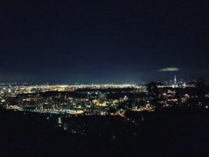 貓空望遠亭夜景