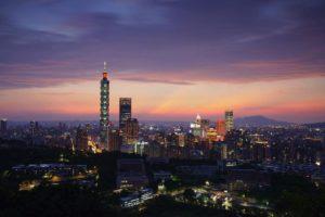 虎山峰觀景臺夜景