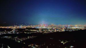 內湖碧山巖夜景