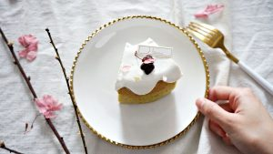 Hananeco-花貓蛋糕鹽漬櫻花紅豆麻糬戚