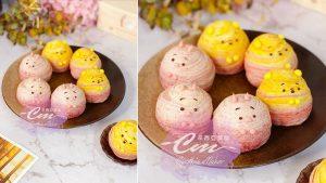 甘杯甜點-維尼小豬造型螺旋酥