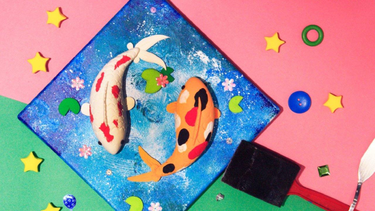 Joyous Fish 年年有魚|親子畫布黏土手作