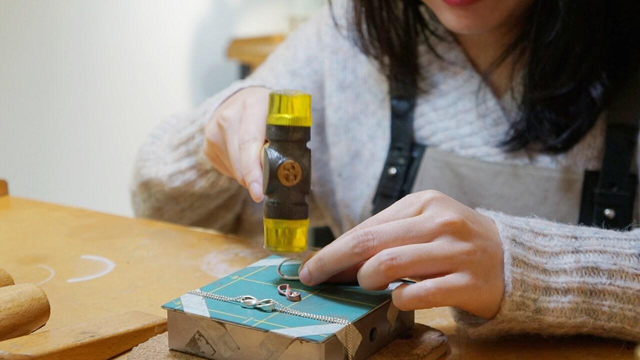 【赤峰街金工DIY】Pick & Collect 手亼口人文金工|手作銀鍊開箱