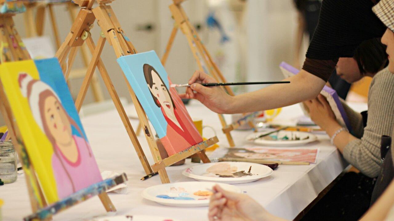 【繪畫體驗|PAINT SIP 畫飲】Romero 普普肖像畫,享受色彩最純粹的快樂!