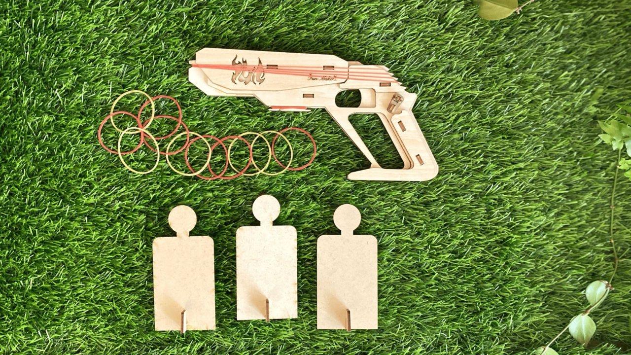 Fun Maker【Fire Gun 橡皮筋槍 DIY 材料包】含學習教具盒 : 線上課程